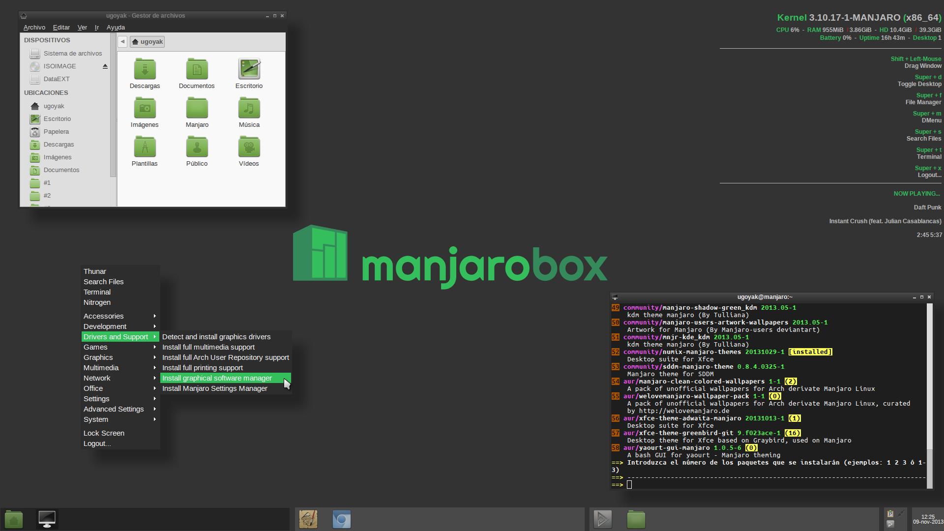 Install Desktop Environments - Manjaro Linux